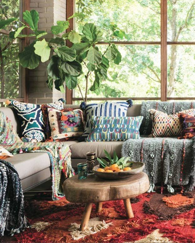 Boho Rooms Where Prints and Patterns Take Center Stage