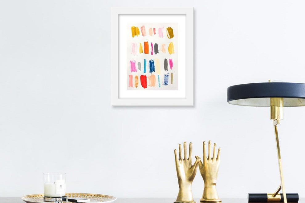 framed art on the wall