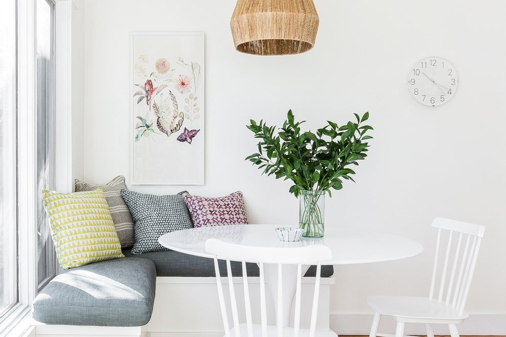 kitchen table with corner banquette