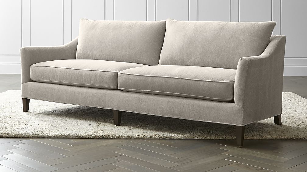 Neutral Living Room Sofa Pin It Courtesy Of Crate And Barrel