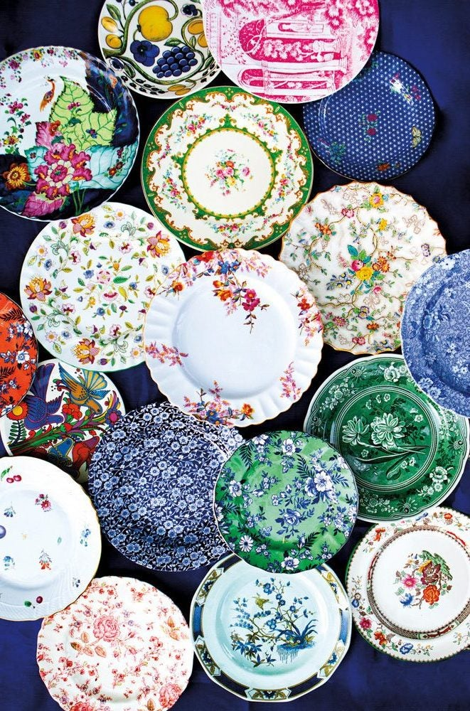decorative plates in multiple colors