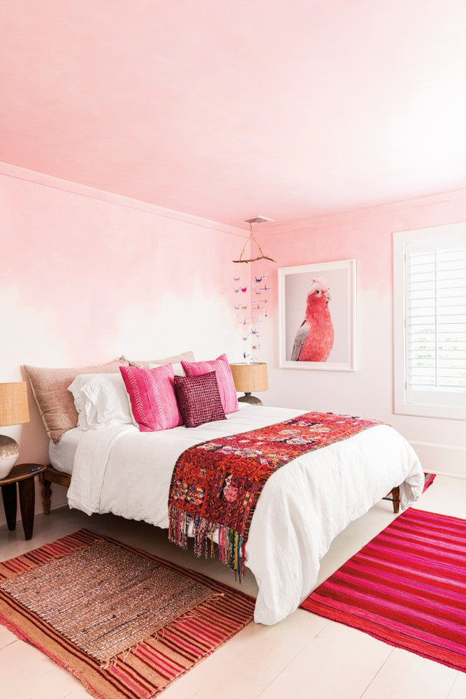 hot pink bedroom