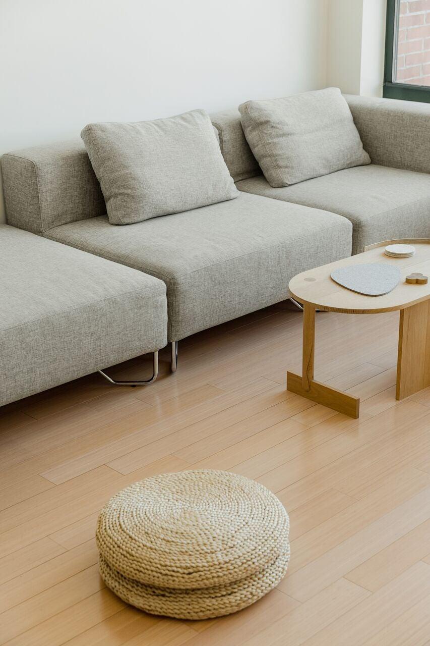 minimal living room sofa