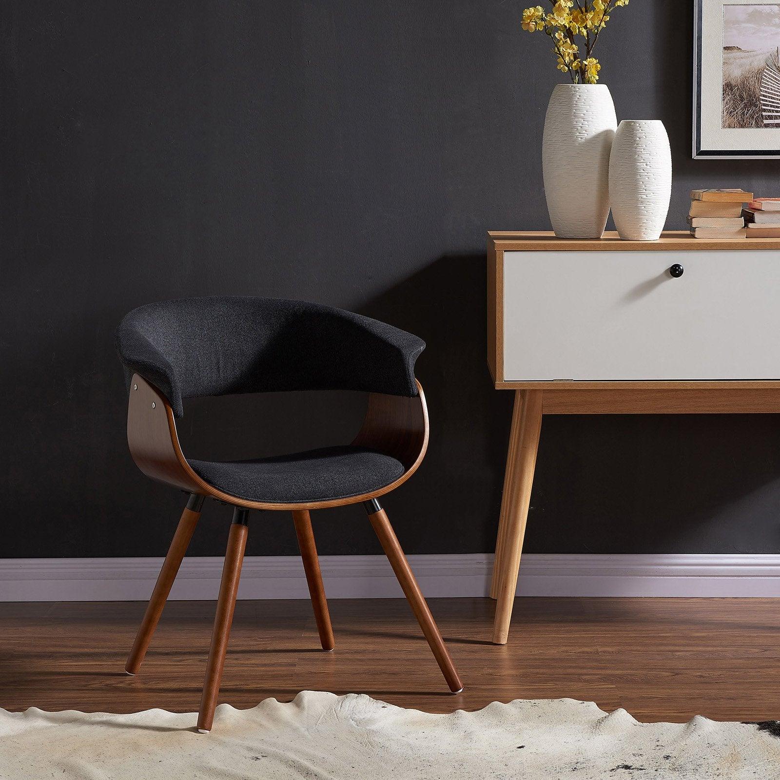 Mid Century Modern Black Accent Chair
