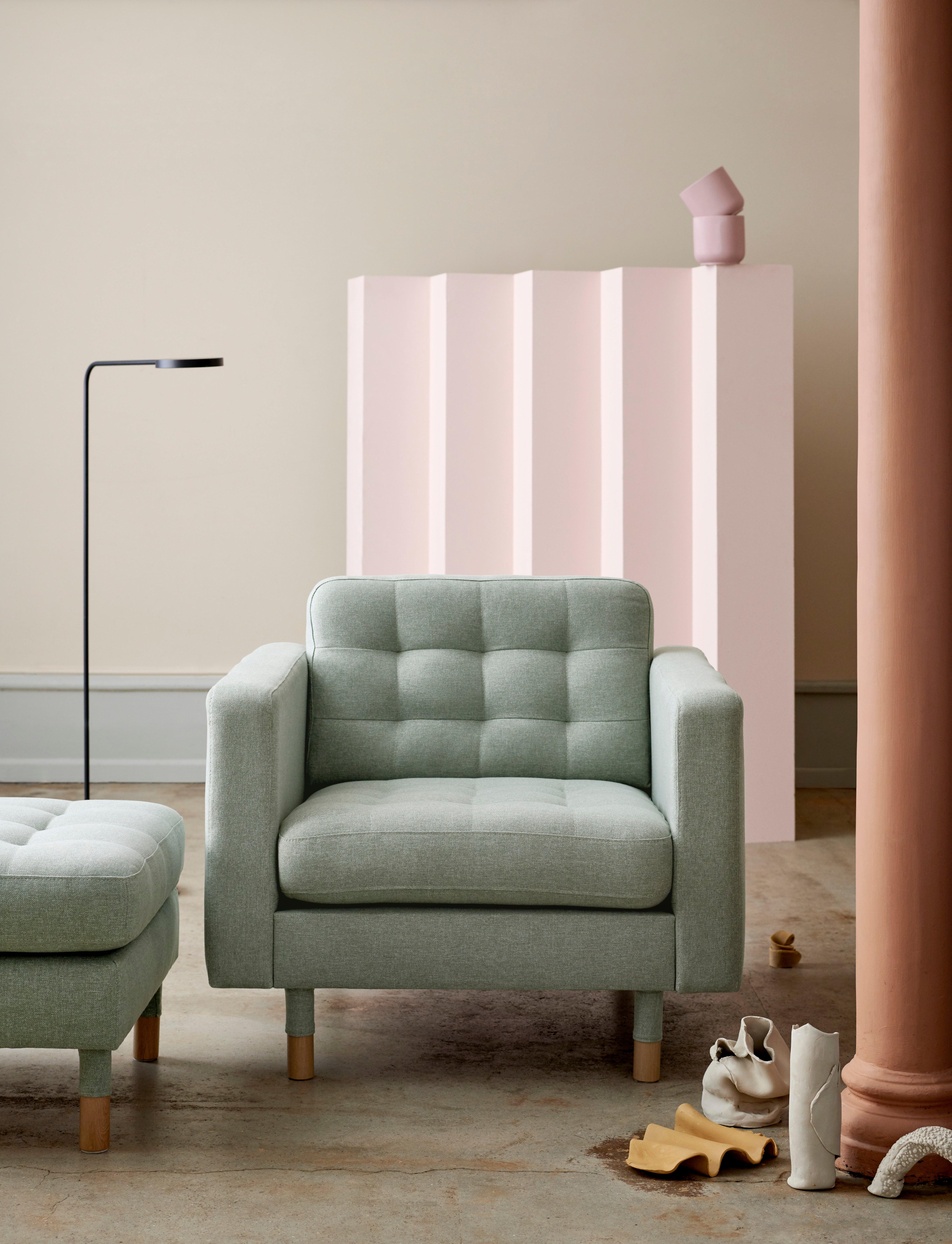 Ikea green sofa