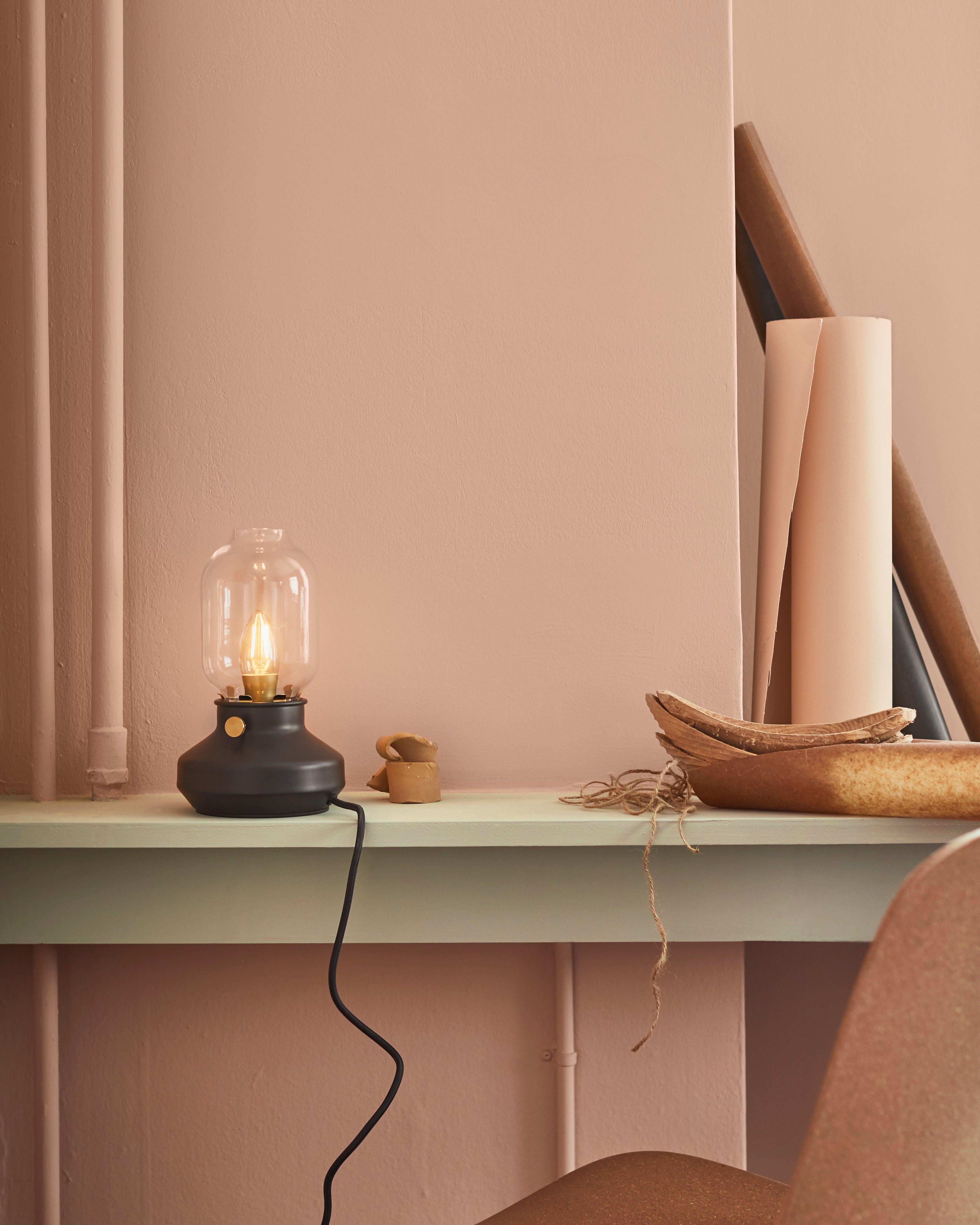 Ikea black lightbulb lamp