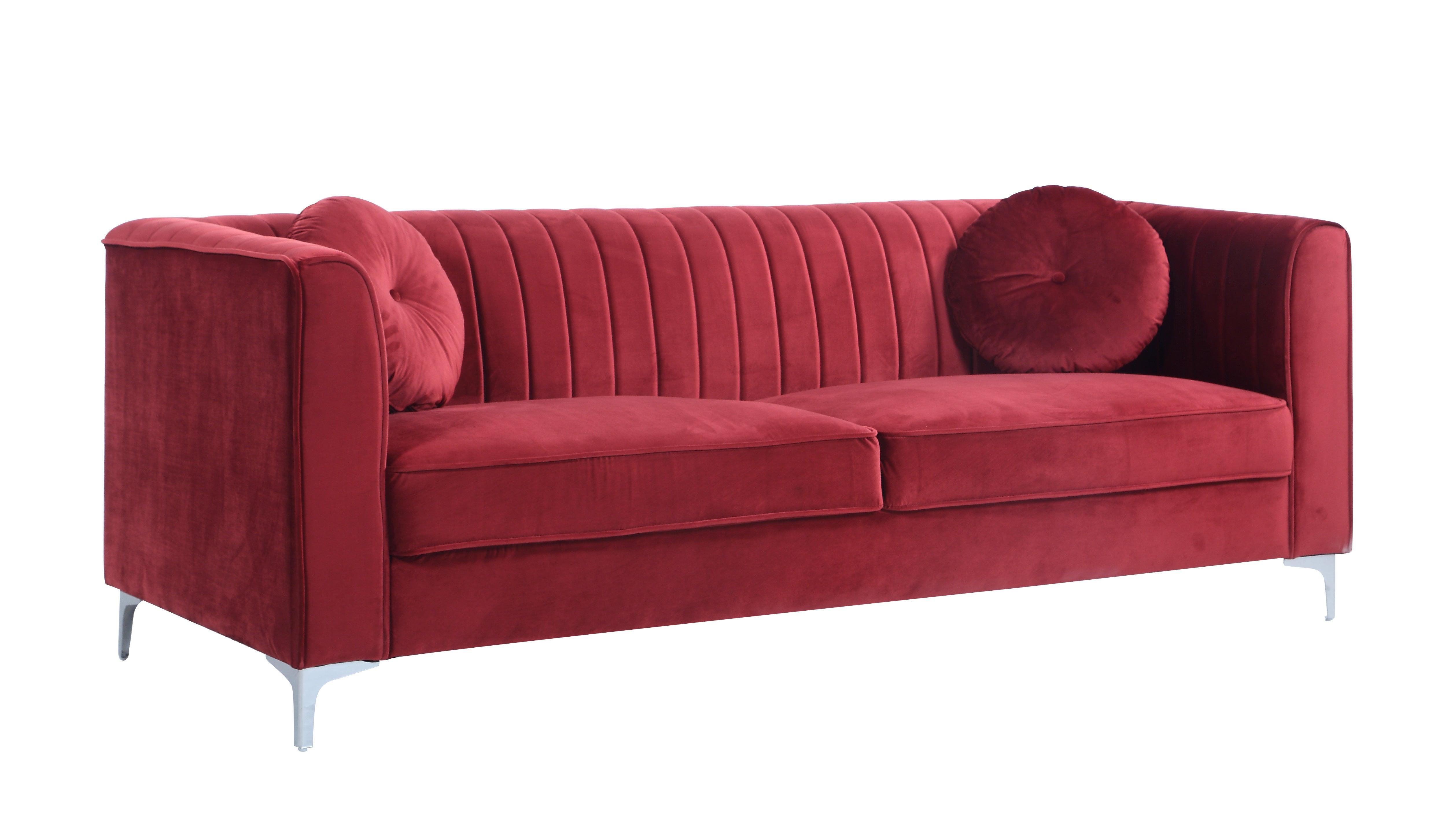 07- velvet red sofa