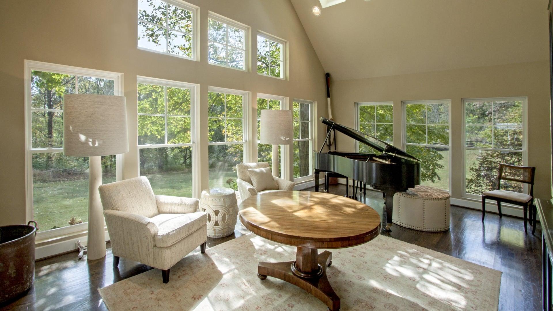 bright modern sitting room