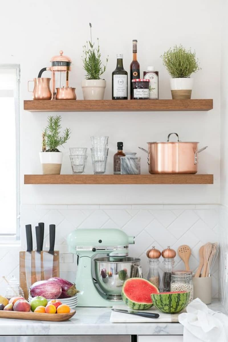 28 seriously cool open shelving ideas we found on the internet domino rh domino com cool kitchen wall shelves