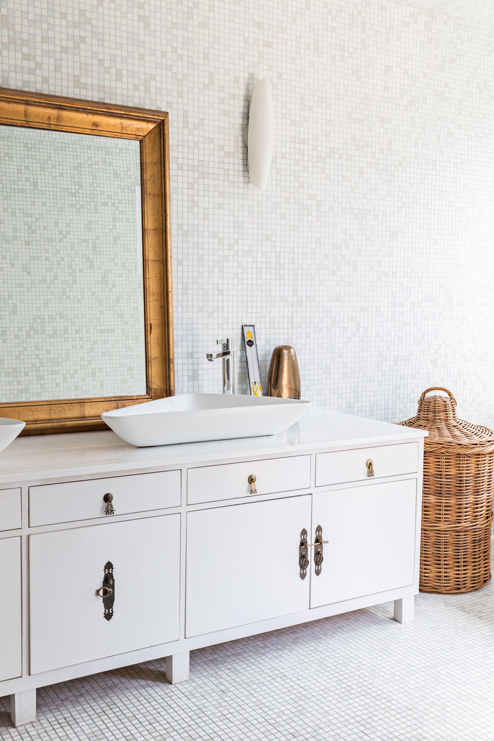 malene b white bathroom