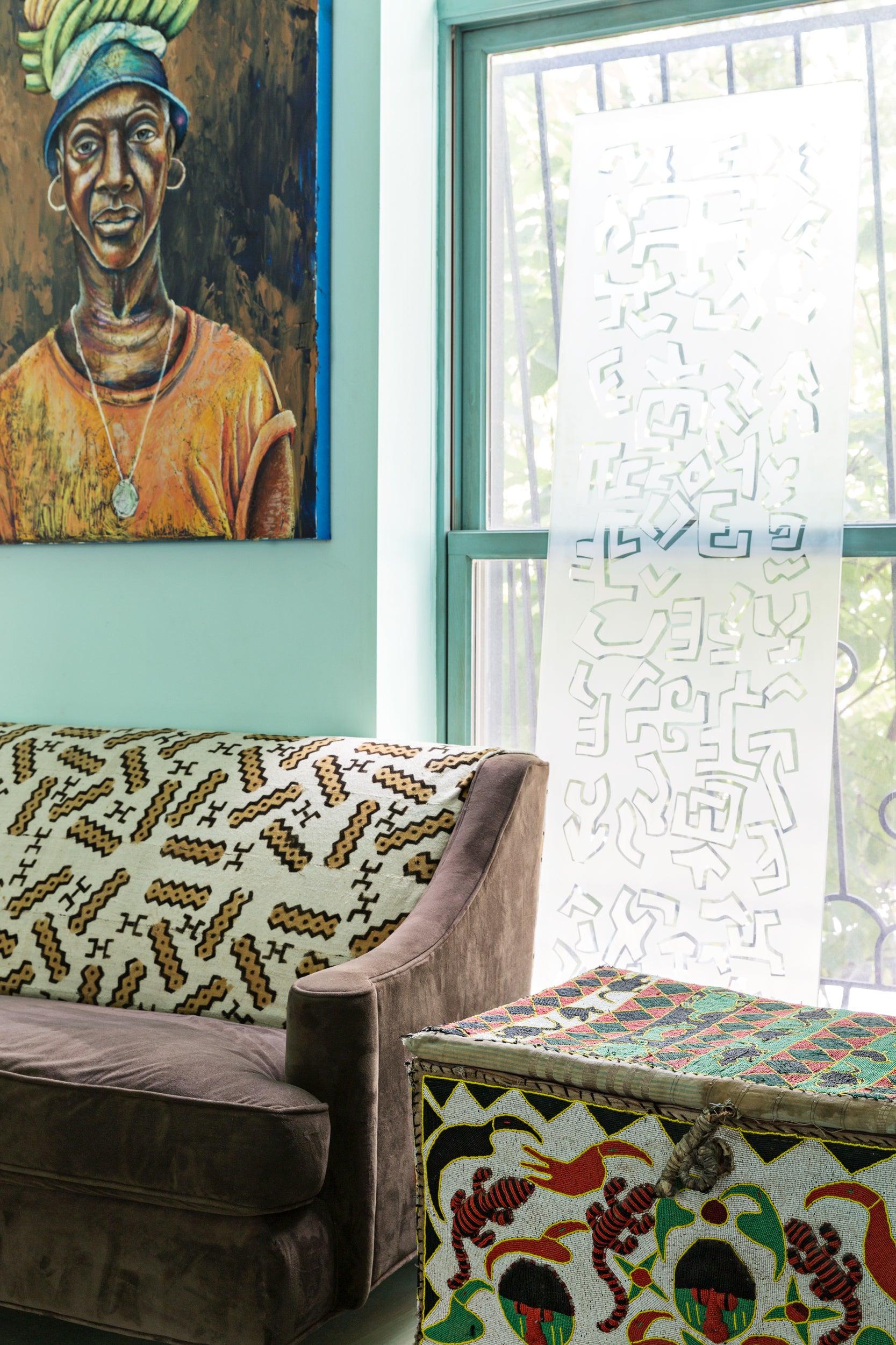 malene b living room brooklyn home