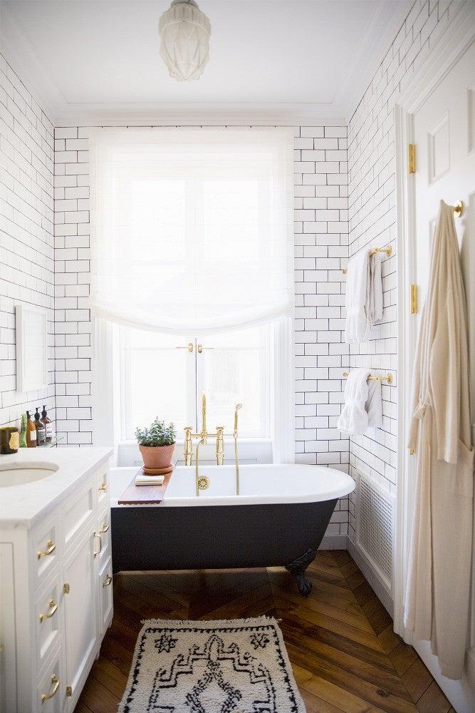 West Village Townhouse Alison Cayne White Bathroom