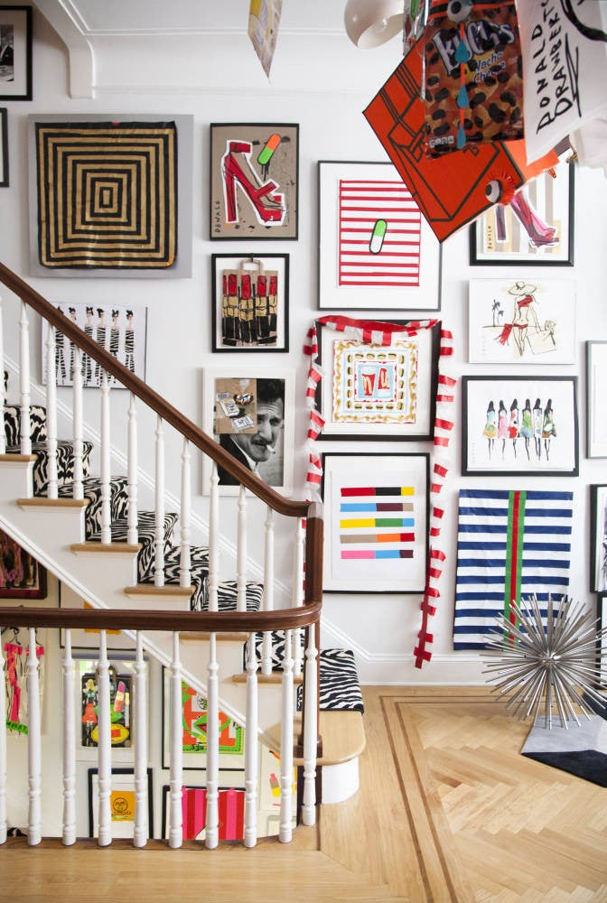 Donald Robertson Staircase Gallery Wall