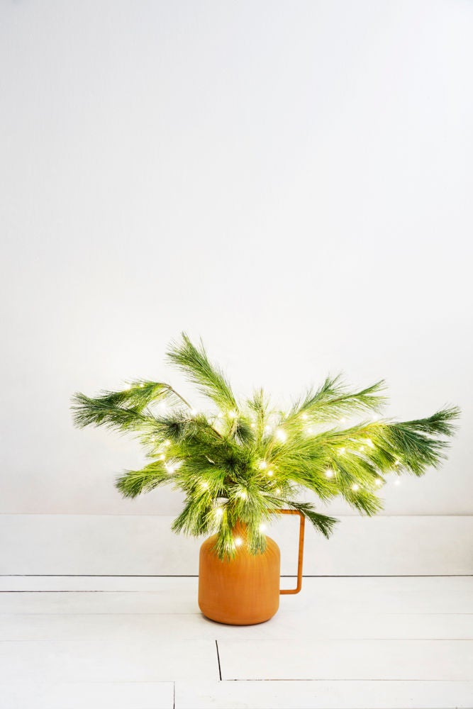 christmas tree alternatives ideas for small spaces vased pines