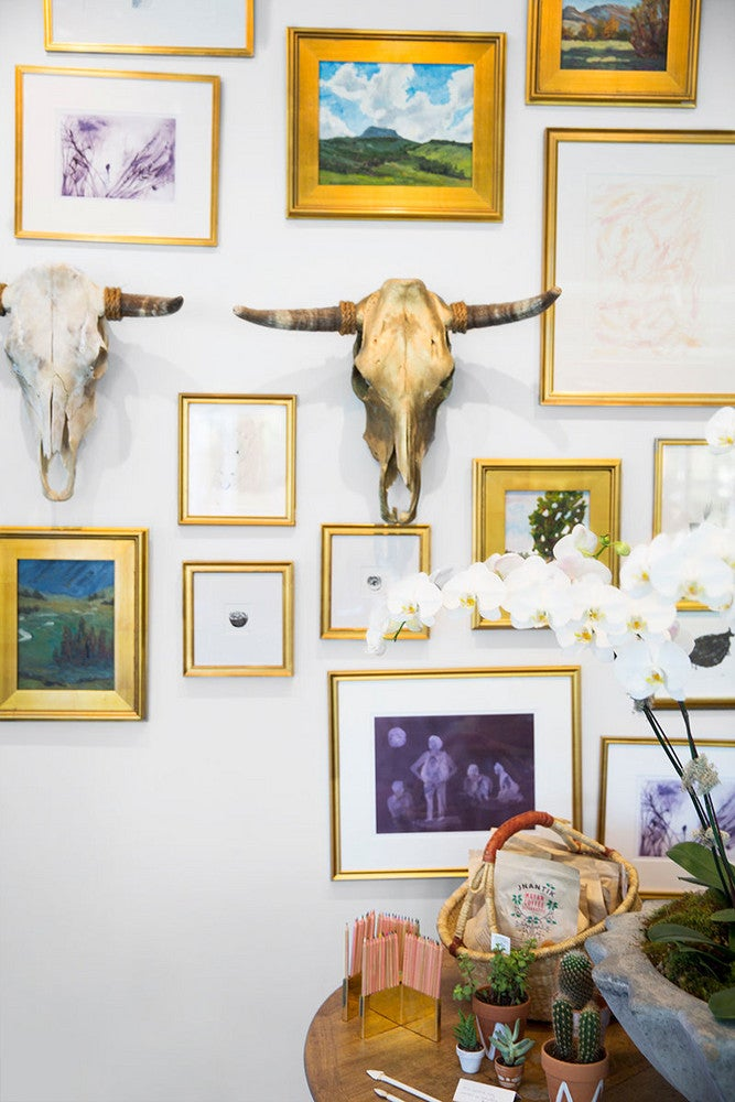 Gold and White Gallery Wall