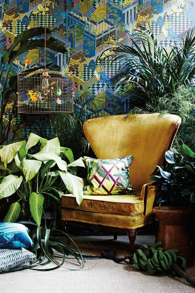 Green and Yellow Living room