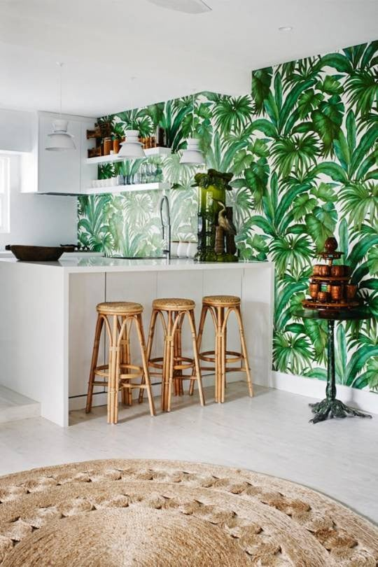 Green and Taupe Kitchen