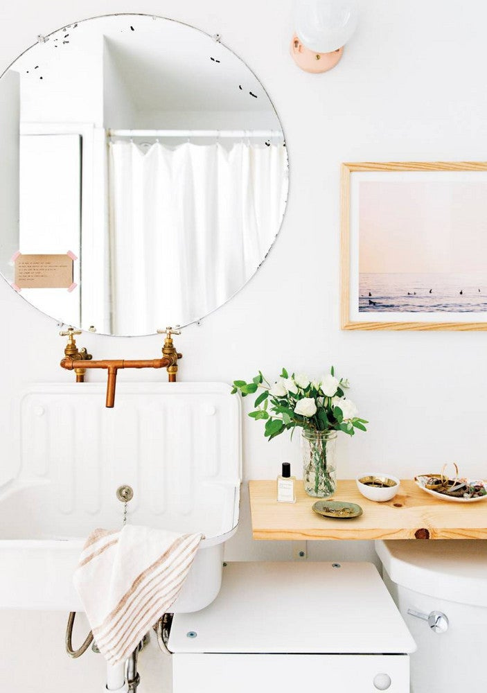 Claire Zinnecker White and Wood Bathroom