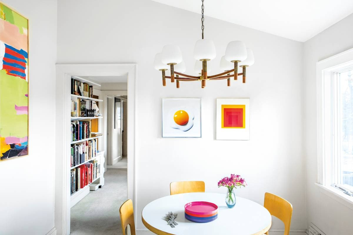 Orange and White Dining room