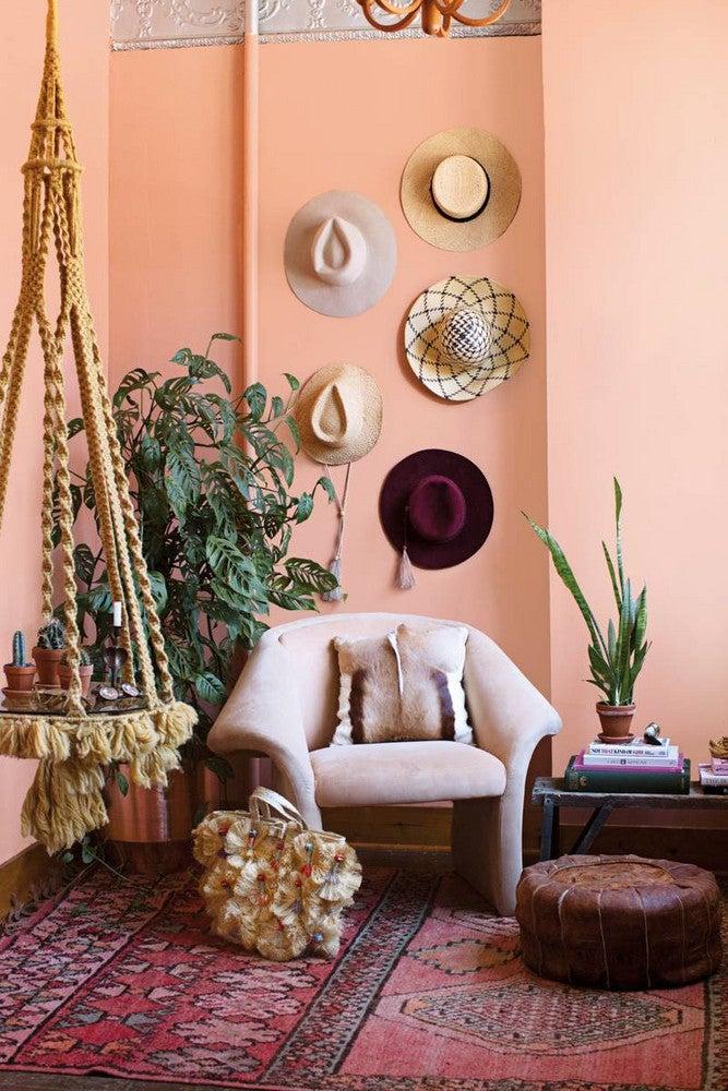 Aurora James Brother Vellies Orange and Pink Living room
