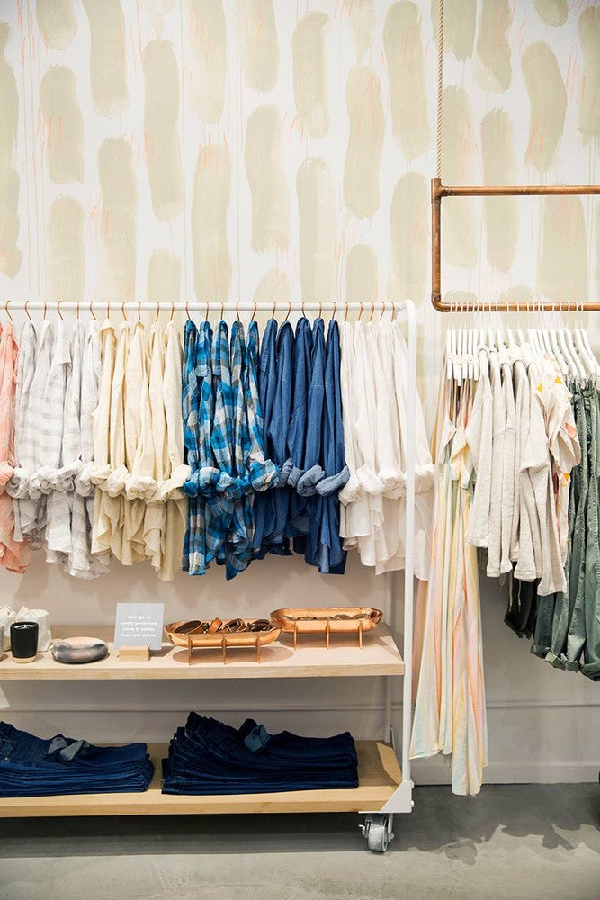 lou and grey nyc store clothing racks