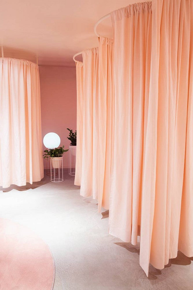 lou and grey nyc store dressing room curtains