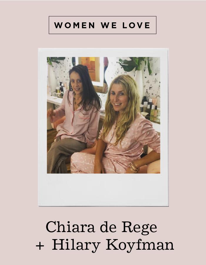 domino magazine chiara de rege and hilary koyman leading ladies