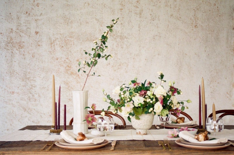 Taupe Table Setting