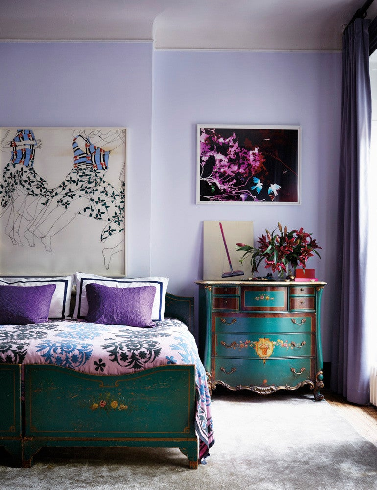 Blue and Purple Bedroom