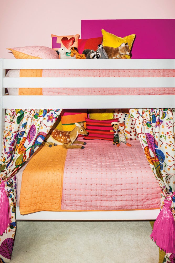 Pink and White and Yellow Kid's room
