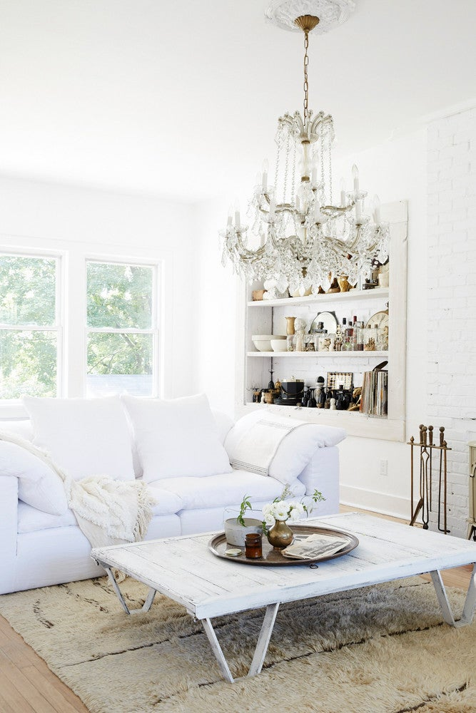 Bronze and White Living room