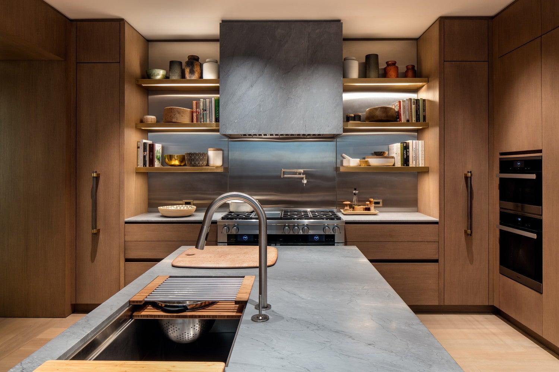 Kitchen Hood Trend Wood Granite Kitchen