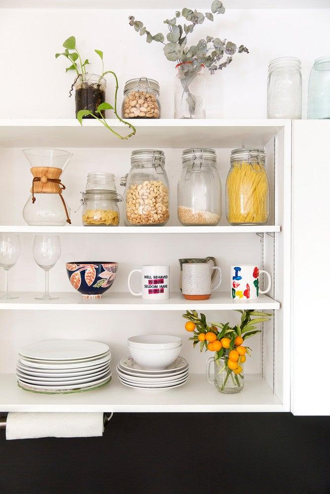 LaTonya Yvette Small Space Home Tour Open Shelving Kitchen