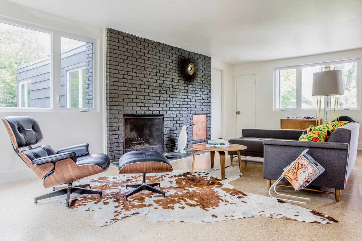 outstanding modern country style living room | Tour a Midcentury Modern Maine Home | Domino