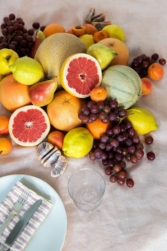 fruit centerpieces casual daytime vibe