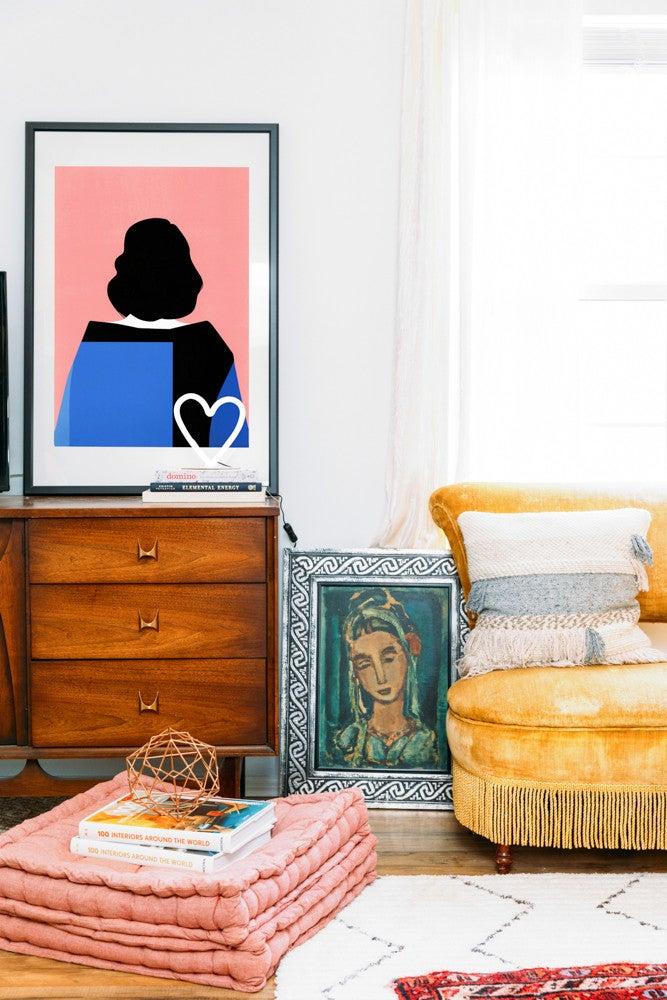 Cara Irwin Of Goldalamode Home Tour Art Colorful Textiles