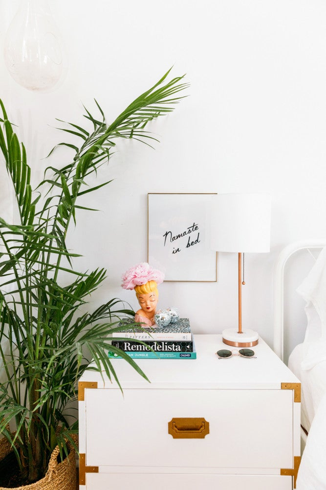 Cara Irwin Of Goldalamode Home Tour Bedside Table