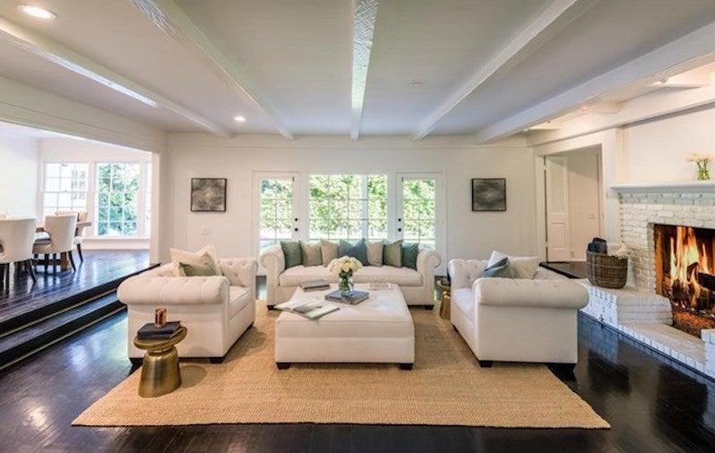 lauren conrad brentwood home living room
