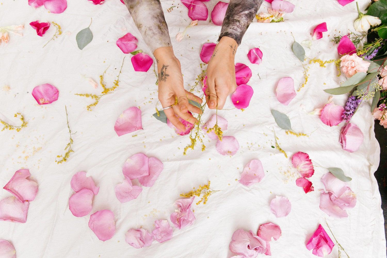 See this Textile Designer's Genius Idea for Repurposing Wedding Bouquets