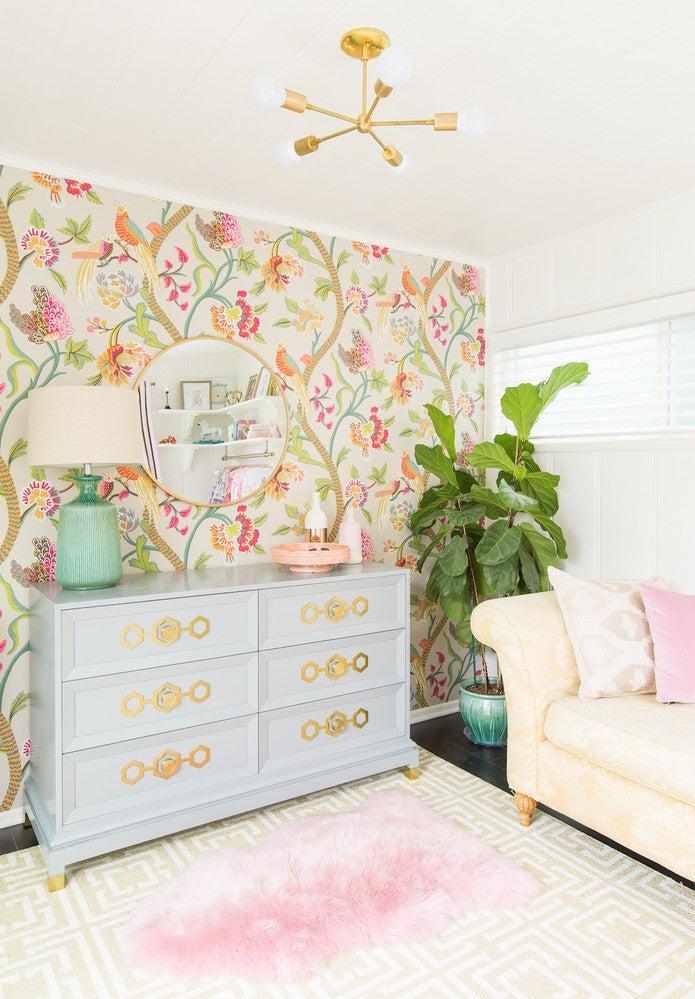 botanical nursery wallpaper