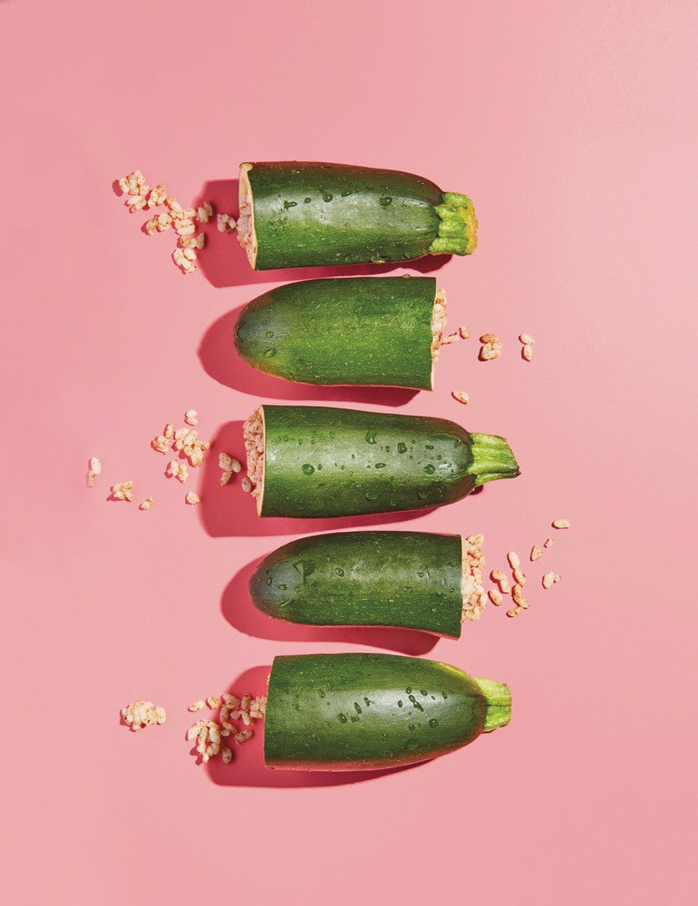 Green and Pink Food