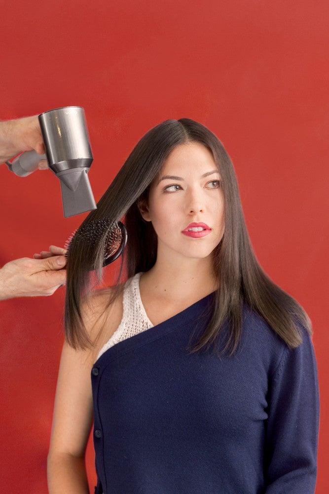 straightening fine hair blow dry
