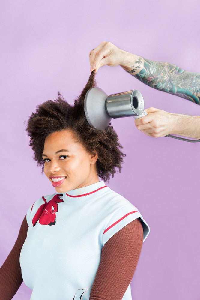 coarse hair guide to curls blow dry