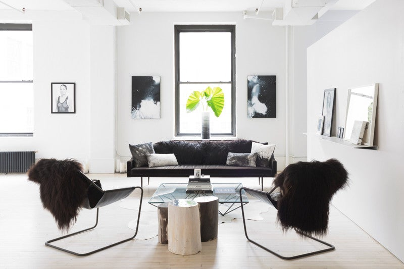 A Monochrome Office in NYC Full of Punchy, Graphic Details