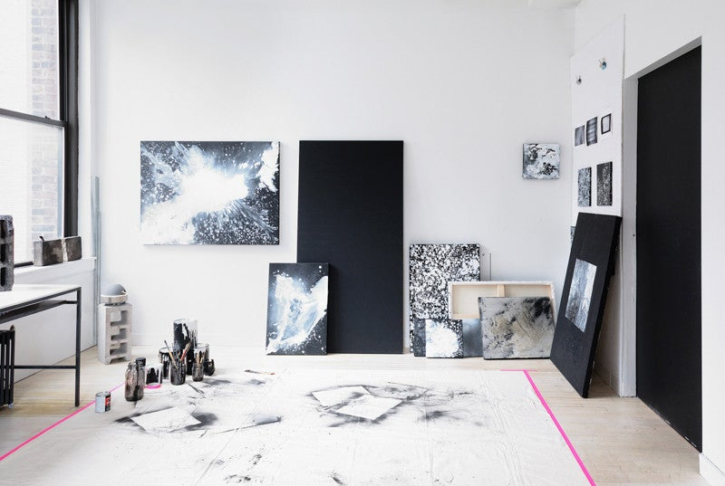 NYC Artist Studio Monochrome Decor