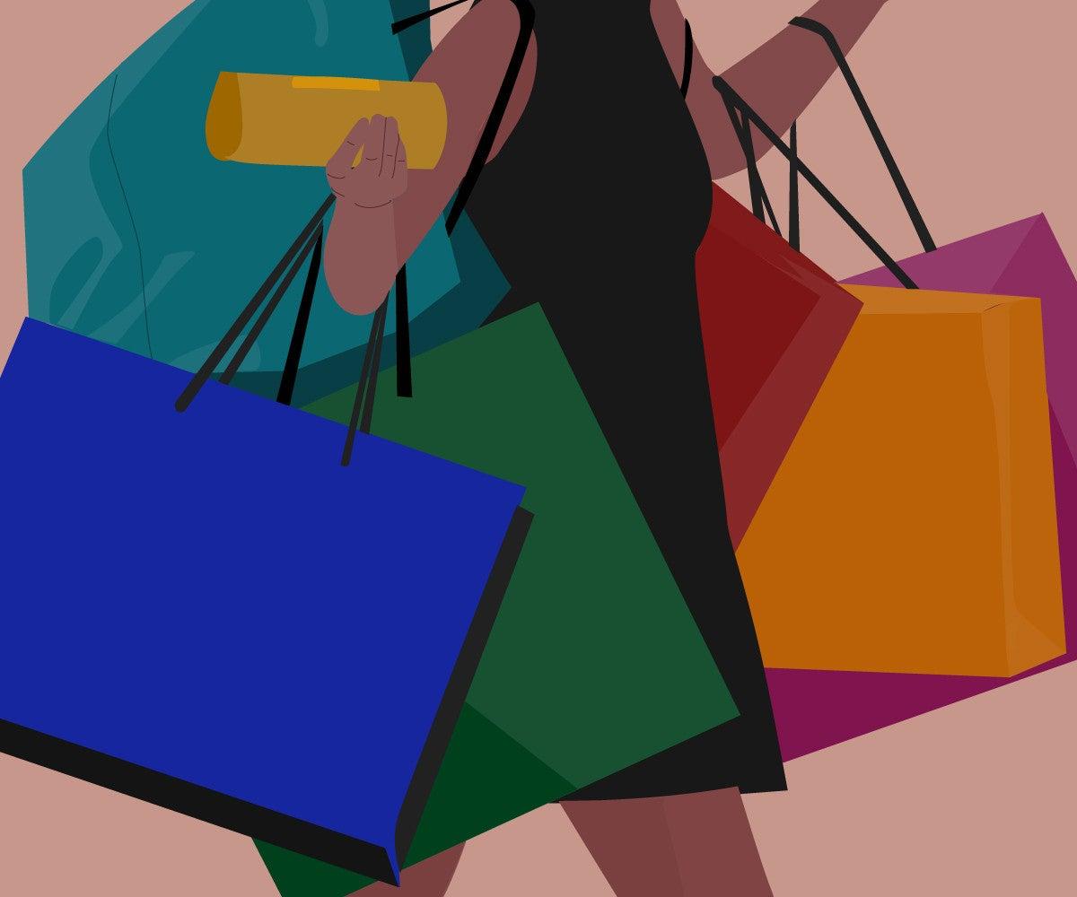 budget shopping illustration