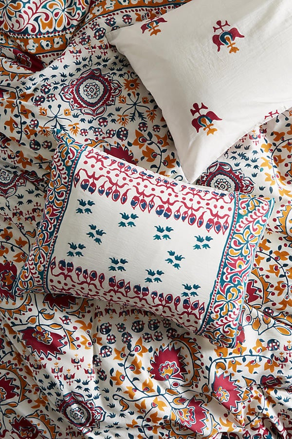 anthropologie colorful bedding
