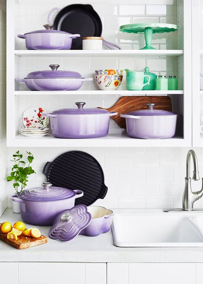 le creuset Provence purple line