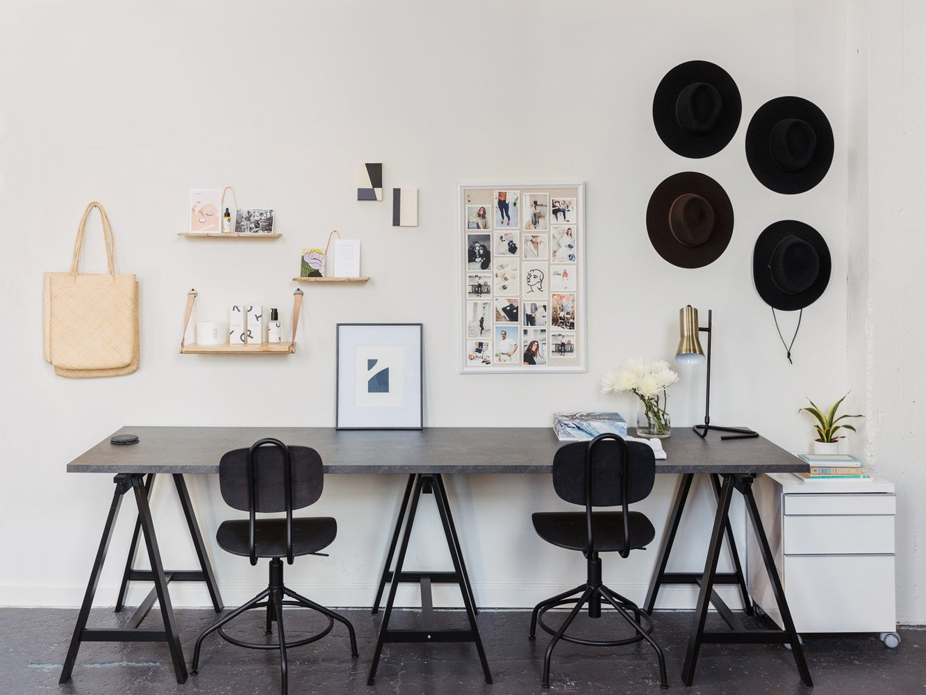 The Clever Ikea Hack That Made This Chic Office