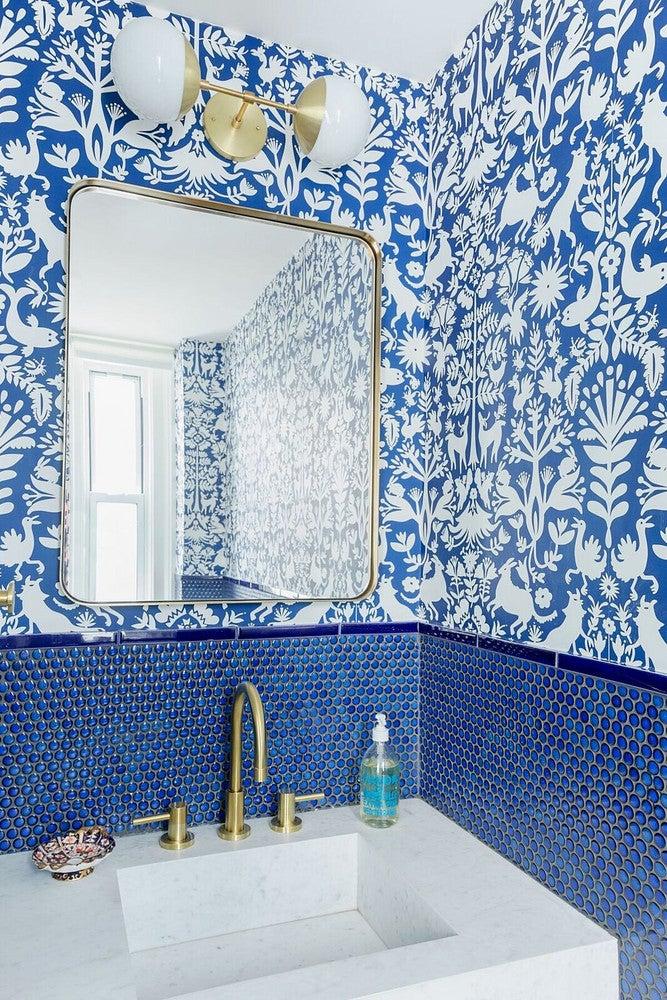 blue tile bathroom